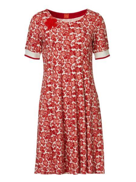rød sommerkjole i A facon
