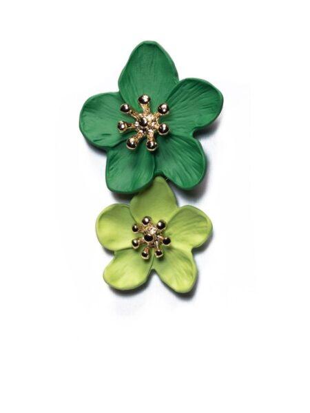 Grønne blomsterøreringe